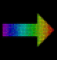 Spectral colored dotted right arrow icon vector