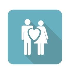 Square love couple icon vector image
