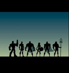 super team cartoon vector image