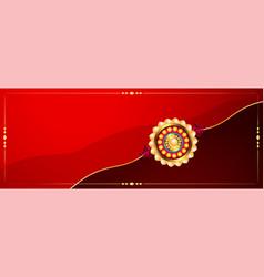 traditional raksha bandhan indian festival banner vector image