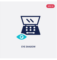 Two color eye shadow icon from beauty concept vector