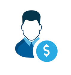 User icon a businessman account earn money vector