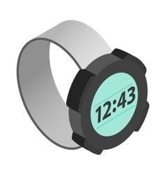 Wrist digital watch icon isometric 3d style vector image