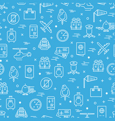 aviation or airport seamless pattern design vector image vector image