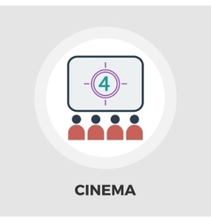 Cinema flat icon vector image vector image