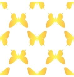golden butterfly seamless vector image