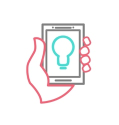 Mobile phone with idea vector image