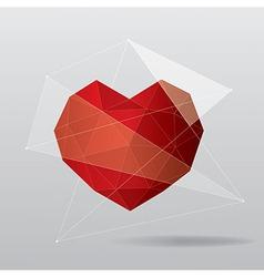 modern geometrical heart background vector image vector image