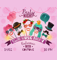 night party advertising poster vector image vector image