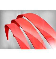 Red Abstract Curves vector image