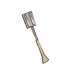 spatula utensil kitchen picnic vector image