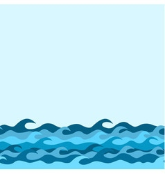 waves border blue vector image