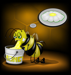 bee makes the honey vector image vector image