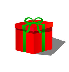 box on the white background vector image