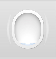closed aircraft window plane porthole isolated on vector image