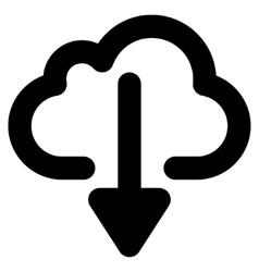 Cloud Download Stroke Icon vector image