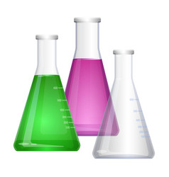 erlenmeyer conical flat-bottomed laboratory flask vector image
