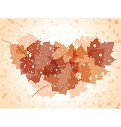 Grunge autumn background vector image