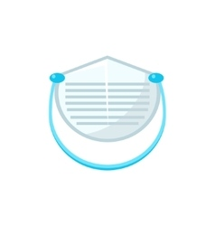 White Protecting Medical Face Mask Simplified Icon vector image vector image