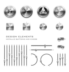 Buttons and knobs vector image vector image