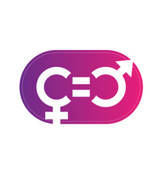 gender equity symbol sign over white vector image vector image