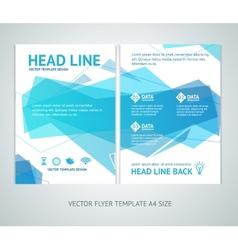 abstract geometric wave brochure flyer vector image vector image