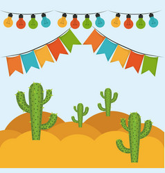 colorful background with festive decoration vector image