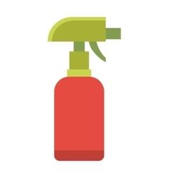 Colorful foggy spray bottle clean plastic hygiene vector image