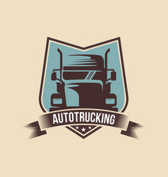 a template of truck logo cargo delivery logistic vector image