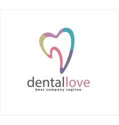 Abstract tooth logo icon similar human heart vector image