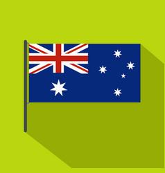 Australian flag icon flat style vector