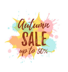Autumn sale colorful concept vector