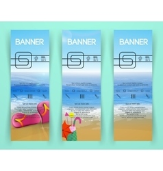 beach landscape Banners vector image