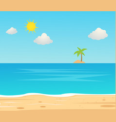 Beach travel holiday vacation beautiful seascape vector