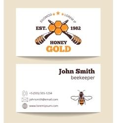 Beekeeper business card template vector