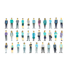 big set a lot of people bundle in line crowd many vector image