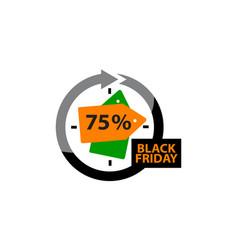 black friday discount 75 percentage vector image