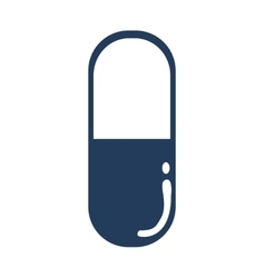 Blue pill icon Medical care design vector