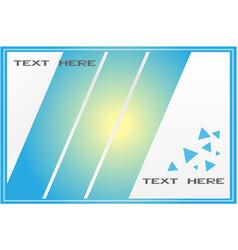 brochure design template blue vector image