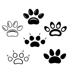 Brown footprints vector image