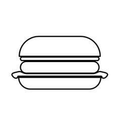burger black icon vector image