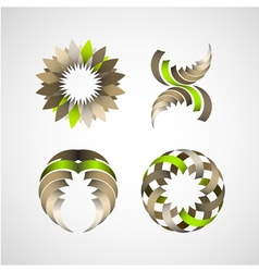 Business design elements icon set for print and we vector