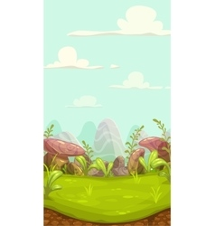 Cartoon meadow landscape vector image
