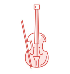 Cello musical instrument icon vector