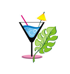 coctail label vector image