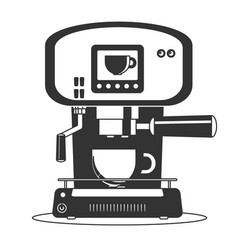 Coffee maker machine icon flat simple vector