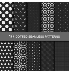 Collection black seamless patterns vector