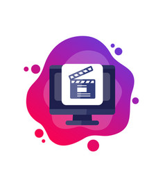 Content production icon on white vector