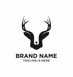 Deer head hipster logo template vector