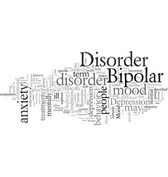 different types of mood disorders vector image